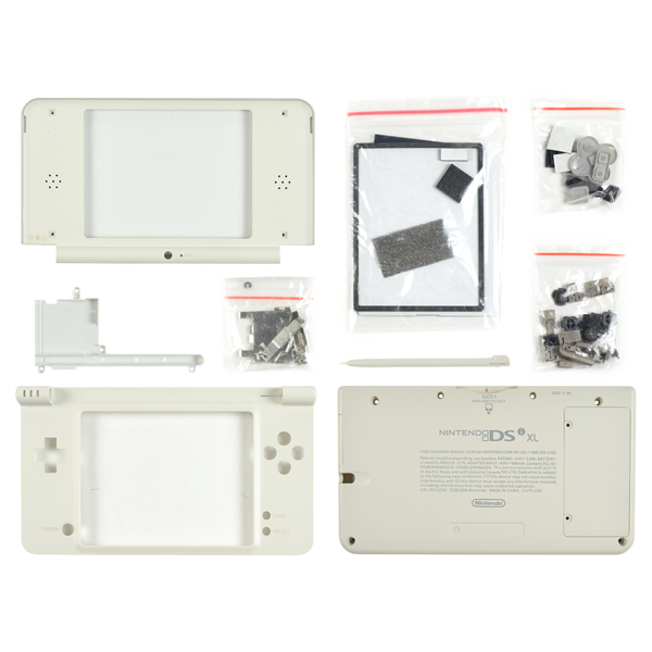 Nintendo DSi XL Housing with Face & Back Plates, Top & Bottom Cover, Lens, Keypads and Screws, Gray