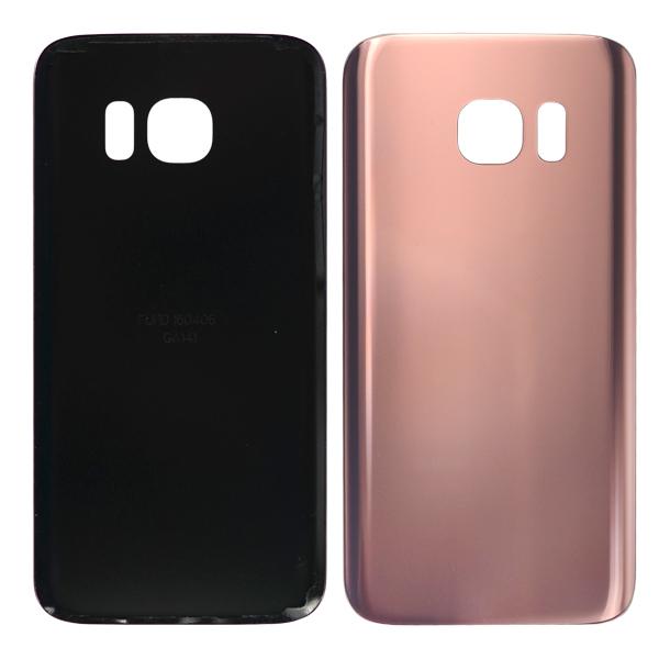 Samsung Galaxy S7 G930 G930F G930A G930V G930P G930T G930R4 G930W8 Back Cover Battery Door, Pink Gold, Samsung Logo