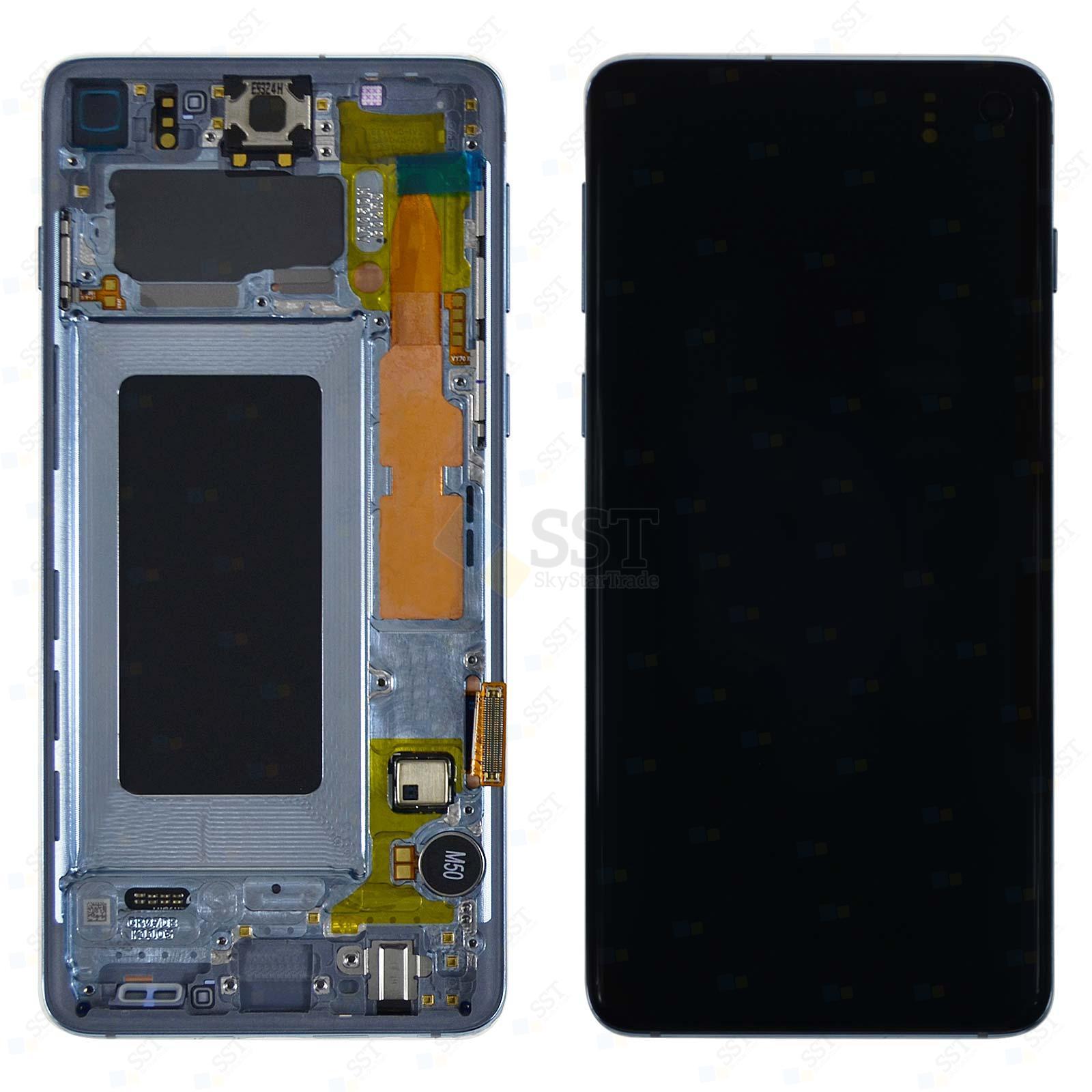 Samsung Galaxy S10 G9730 G973N G973F G973U LCD Screen Digitizer with Bezel Frame, Blue