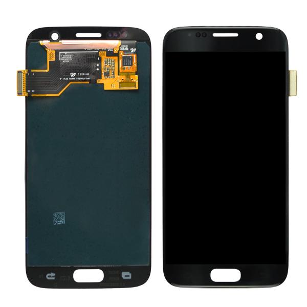 Samsung Galaxy S7 G930 G930F G930A G930V G930P G930T G930R4 G930W8 LCD Screen Digitizer, Black Onyx