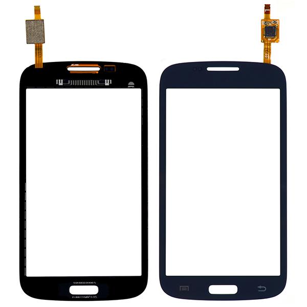Samsung Galaxy Core Duos i8260 i8262 i8262D Digitizer Touch, Dark Blue, Straight Flex