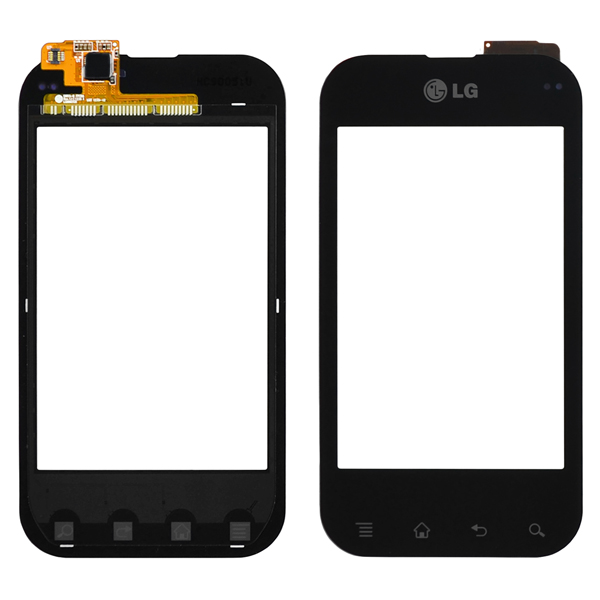 LG T-Mobile myTouch Q C800, Eclypse C800g Digitizer Touch, Black, LG Logo