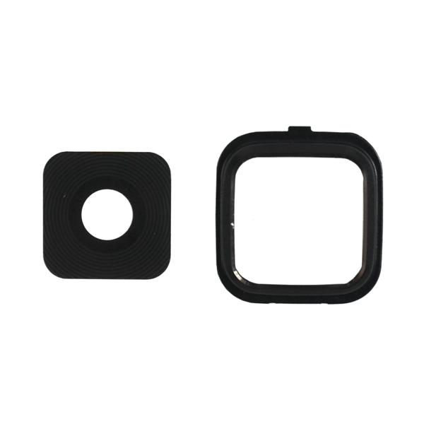 Samsung Galaxy Note 4 N910 N910M N910F N910S N910C N910A N910V N910P N910R N910T N910W8, Note Edge N9150 N915A N915D N915F N915FY N915G N915J N915P N915R4 N915T N915V N915W8 Camera Lens with Bezel Frame, Black, 2 in 1