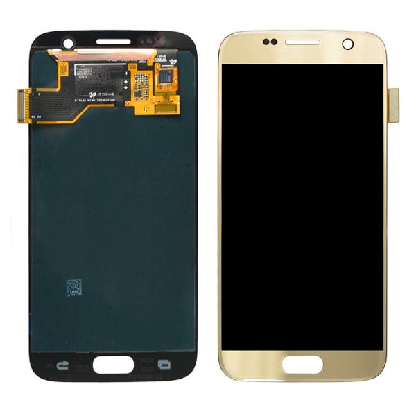 Samsung Galaxy S7 G930 G930F G930A G930V G930P G930T G930R4 G930W8 LCD Screen Digitizer, Gold Platinum