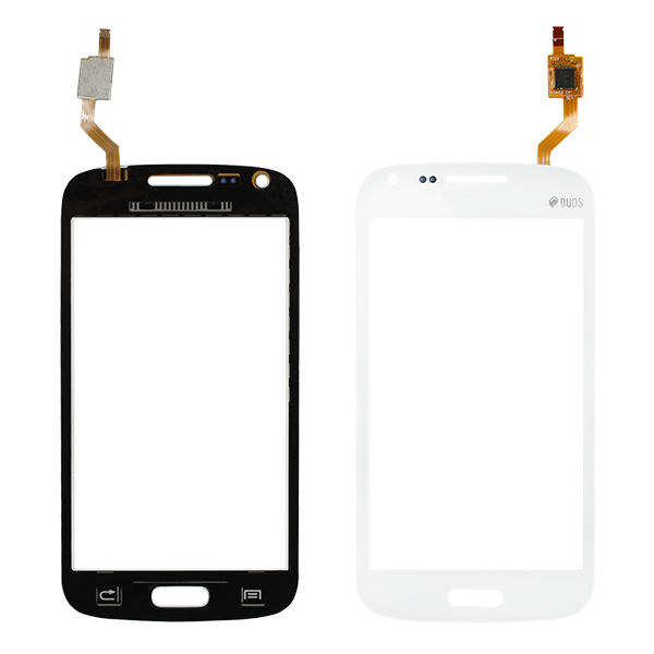 Samsung Galaxy Core Duos i8260 i8262 i8262D Digitizer Touch, White, Curved Flex