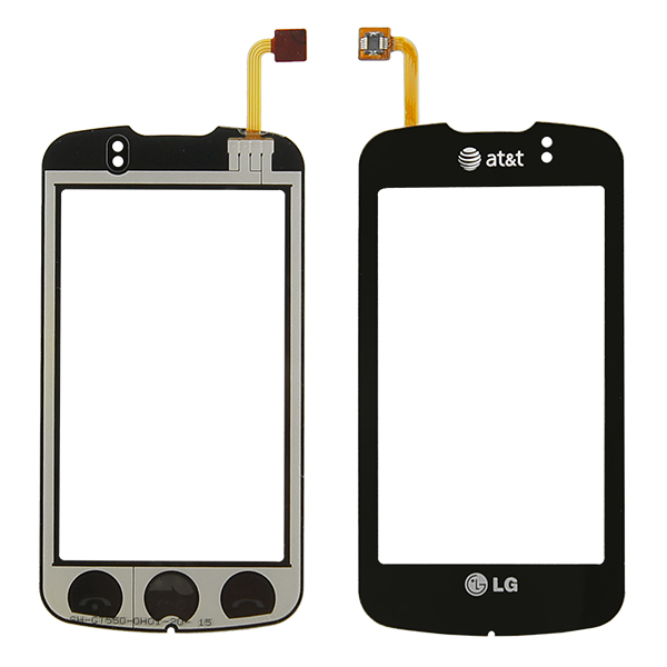 LG Encore GT550 Digitizer Touch, Black, AT&T and LG Logo