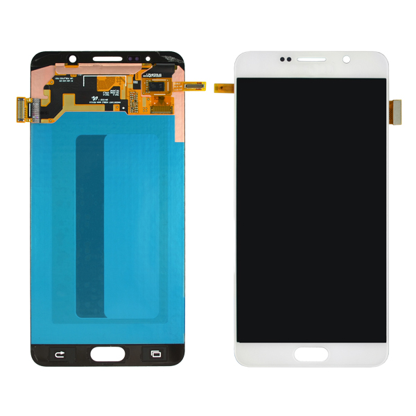 Samsung Galaxy Note 5 N920 N920F N920A N920V N920P N920T N920R4 N920W8 N9200 LCD Screen Digitizer and Stylus Flex, White Pearl
