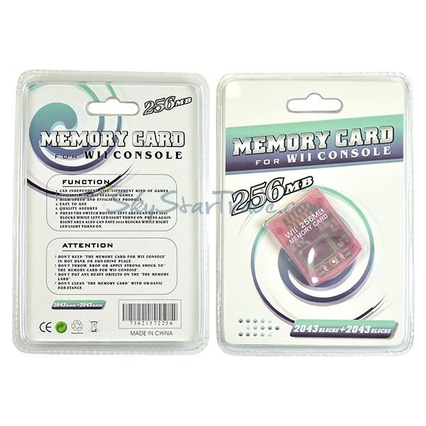 Nintendo Wii, GameCube Memory Card, 256MB