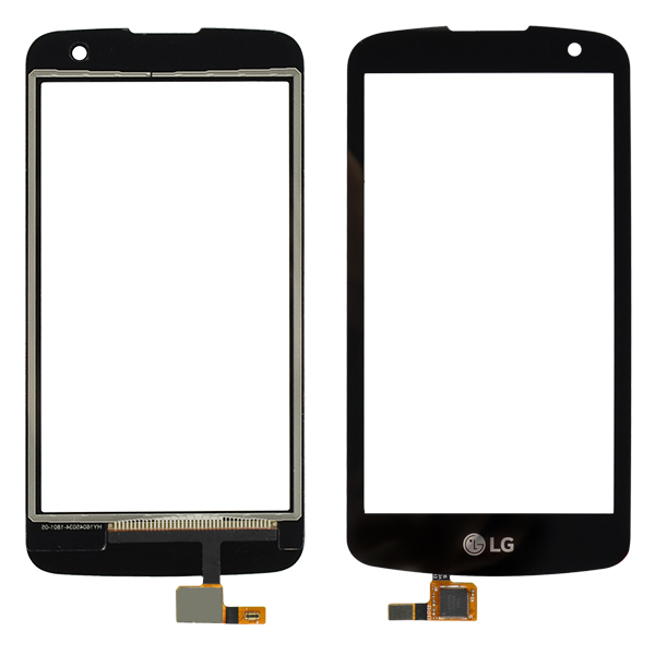 LG Spree K120AR K120E K121, K4 K130 K130E K130F, Optimus Zone 3 VS425PP Digitizer Touch, Black, No Proximity Light Sensor Hole