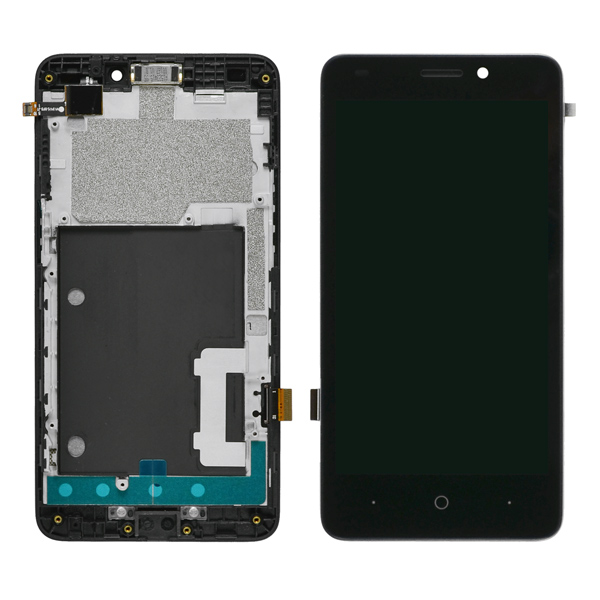 ZTE Prestige N9132 LCD Screen Digitizer and Bezel Frame, Black