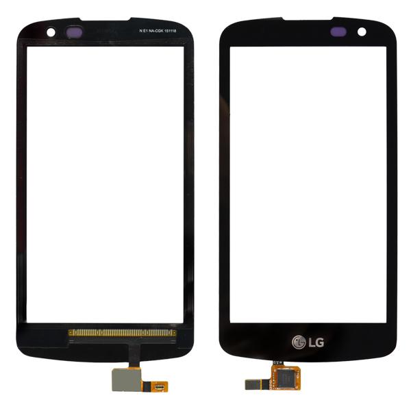LG Spree K120AR K120E K121, Optimus Zone 3 VS425PP Digitizer Touch with Proximity Light Sensor Hole, Black