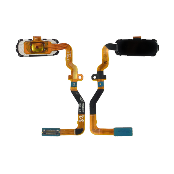 Samsung Galaxy S7 G930 G930F G930A G930V G930P G930T G930R4 G930W8 Flex Cable Ribbon with Fingerprint Scanner Sensor, Home Button and Connector, Black