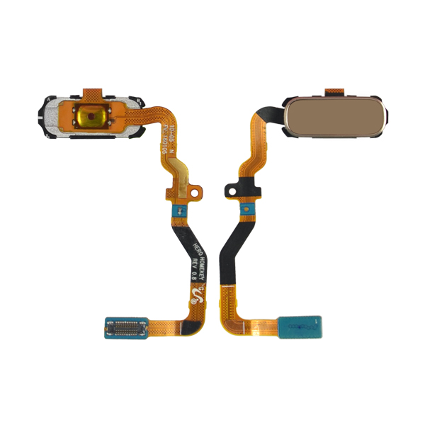 Samsung Galaxy S7 G930 G930F G930A G930V G930P G930T G930R4 G930W8 Flex Cable Ribbon with Home Button and Fingerprint Scanner Sensor, Gold