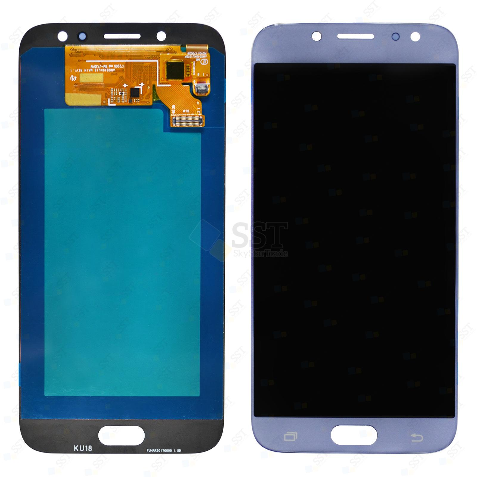 Samsung Galaxy J7 Pro J730F J730FM J730G J730GM/DS J730K, J7 2017 J730F/DS J730FM/DS LCD Screen Digitizer, Blue, High Quality, Not Compatible with 8.0 Android Oreo