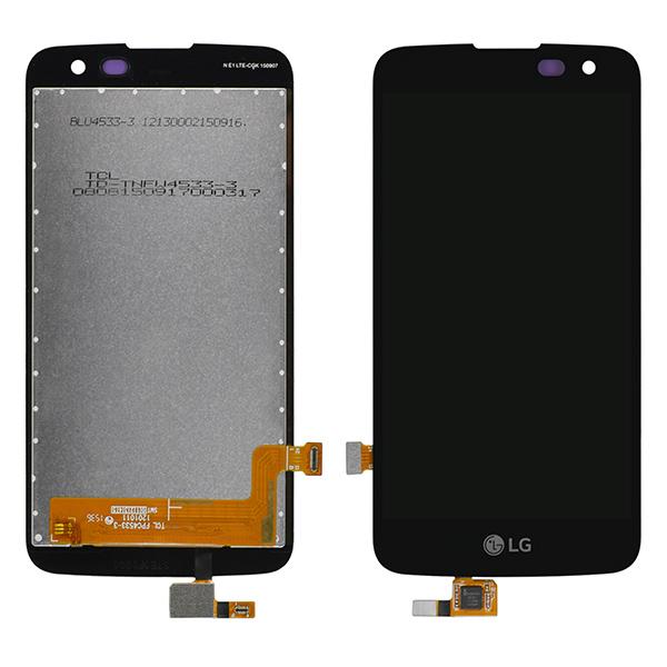 LG Spree K120AR K120E K121, Optimus Zone 3 VS425PP LCD Screen Digitizer with Proximity Light Sensor Hole, Black