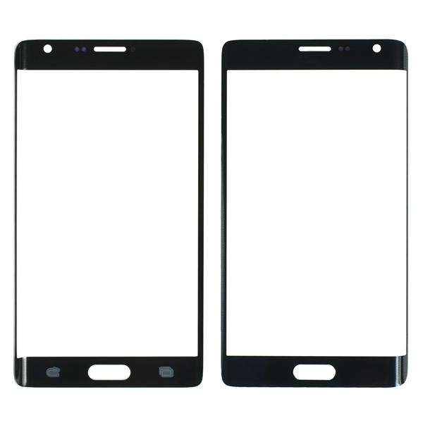 Samsung Galaxy Note Edge N9150 N915A N915D N915F N915FY N915G N915J N915P N915R4 N915T N915V N915W8 Front Screen Glass Lens, Charcoal Black