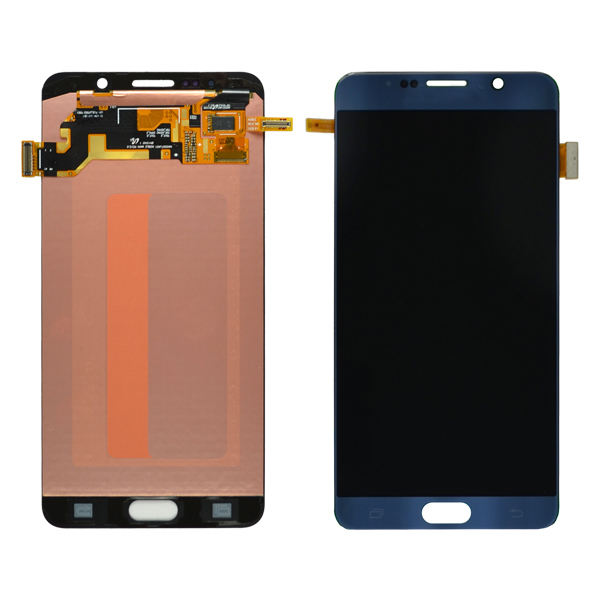Samsung Galaxy Note 5 N920 N920C N920F N920A N920V N920P N920T N920R4 N920W8 N9200 LCD Screen Digitizer and Stylus Flex, Black Sapphire