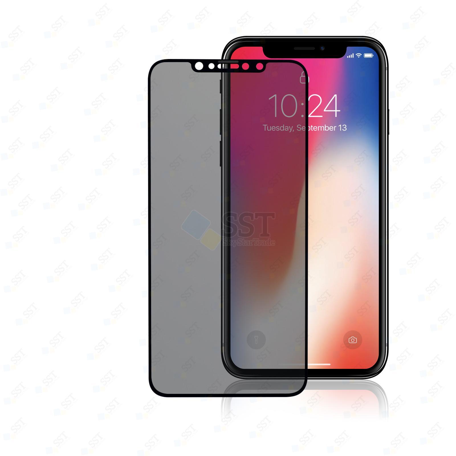 iPhone XS Max A1921 A2101 A2102 A2103 A2104, 11 Pro Max A2161 A2218 A2220 Privacy Anti-Spy Premium Tempered Glass Screen Protector Guard, Black