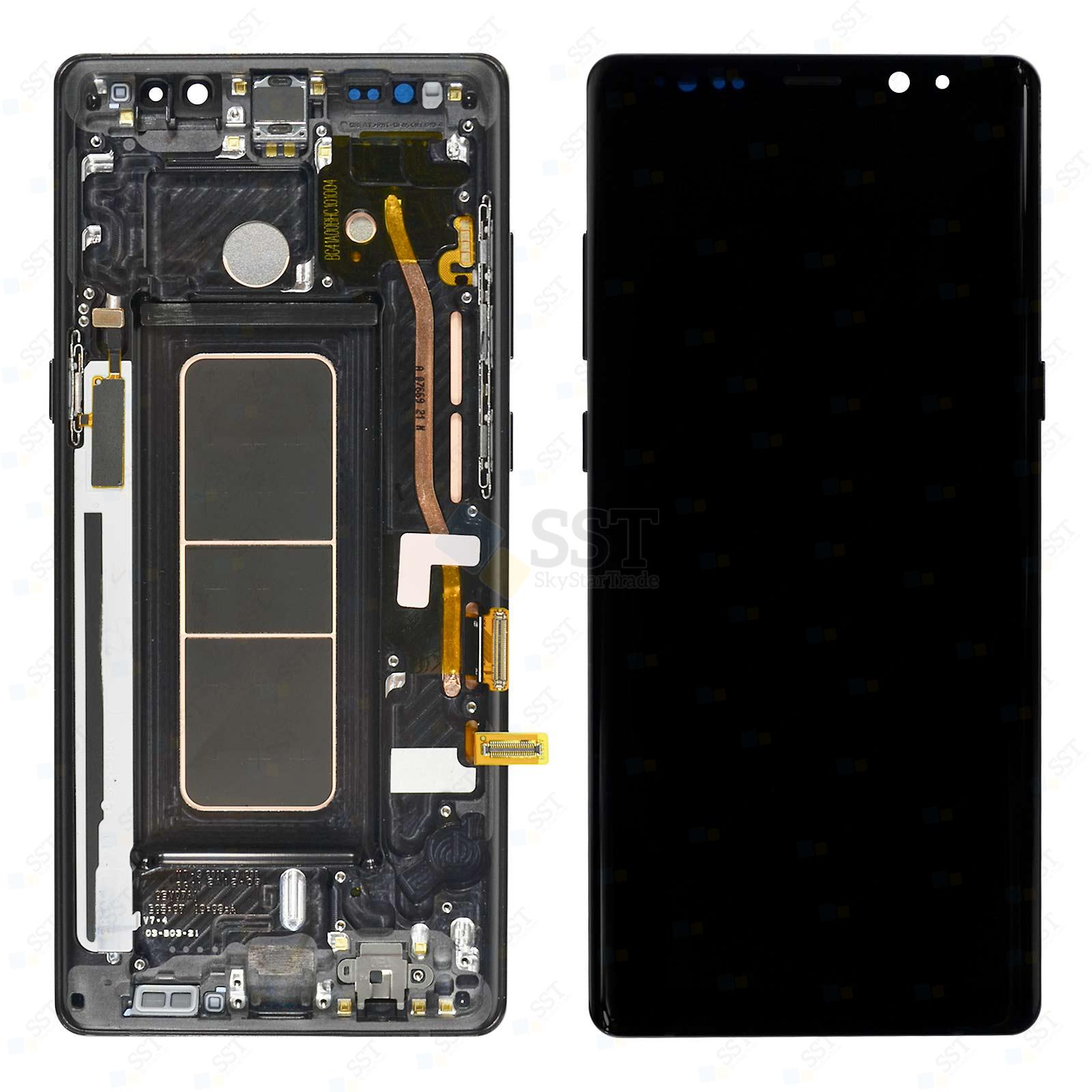 Samsung Galaxy Note 8 N9500 N9508 N950D N950F N950FD N950J N950N N950NKPC N950U N950U1 N950W LCD Screen Digitizer with Bezel Frame, Black
