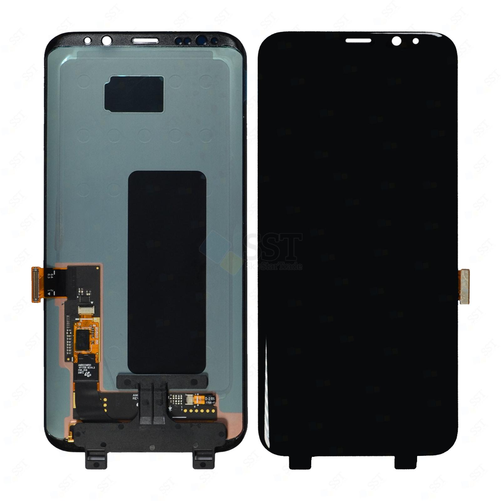 Samsung Galaxy S8 Plus G9550 G955A G955F G955FD G955P G955R4 G955T G955U G955V G955W LCD Screen Digitizer, Black for All Colors