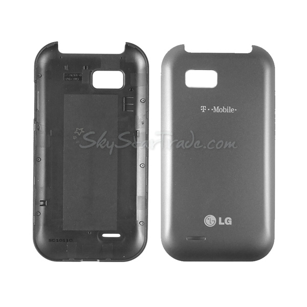 LG T-Mobile myTouch Q C800, Eclyps C800G Back Cover Battery Door, Gray