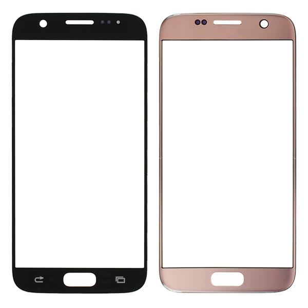 Samsung Galaxy S7 G930 G930F G930A G930V G930P G930T G930R4 G930W8 Front Screen Glass Lens, Pink Gold