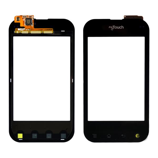 LG T-Mobile myTouch Q C800, Eclypse C800g Digitizer Touch, Black, MyTouch Logo