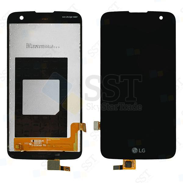 LG K4 K130 K130E K130F LCD Screen Digitizer, Black, No Proximity Light Sensor Hole